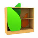 Childrens Novelty Bookcase Snail with Leaf Door